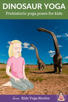 Dinosaur Yoga Poses! Pretend to be a dinosaur through prehistoric dinosaur yoga poses and thoughtful book recommendations. Five dinosaur yoga poses are included plus book ideas to further spark an interest and love for dinosaurs.