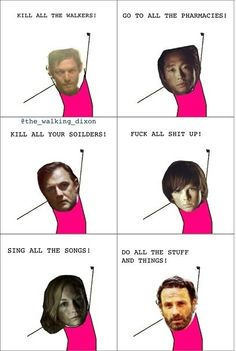 The Walking Dead, pretty much perfectly summed up haha