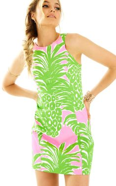 Love this pineapple print shift dress