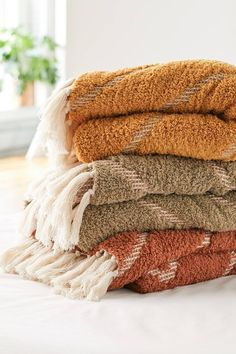 Stevie Sherpa Waffle Throw Blanket | Urban Outfitters