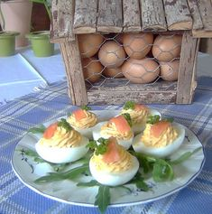 Deviled Eggs with Salmon (gefüllte Eier)
