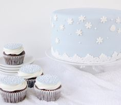 Wintery Cupcakes | Baking Beauty
