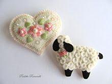 heart and lamb pins