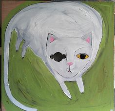 one eyed cat by oswald flump, via Flickr