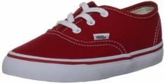 The Vans Authentic Canvas Toddlers Lace Up are cool kids shoes in the original Vans classic design. These classic blue (navy) canvas shoes are perfect for all boys this summer, featuring retro white contrast details, making them versatile yet contemporary all at once.  http://www.healthuchoose.com