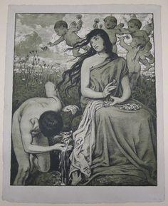 Hans Thoma, Naiad [Spring Nymph], 1894, Harvard Art Museums/Busch-Reisinger Museum.