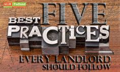 Property managers in Atlanta suggest Five Best Practices Every Landlord Should Follow