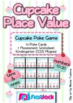 Poke games are super fun! This common core based title includes 12 cupcake-themed poke cards to help students practice a basic understanding of pla...