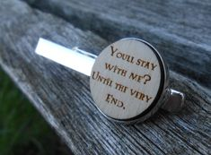 You'll Stay With Me? Until The Very End Tie Clip.  Anniversary, Unique Birthday Gift, Groom Gift, Christmas. Lapel, Tie Bar by JustCyndy on Etsy