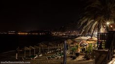 Beach La Fontanilla at night
