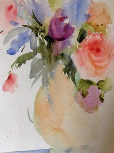 Soft Roses Painting  - Soft Roses Fine Art Print