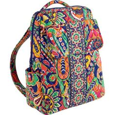 Vera Bradley Backpack Venetian Paisley -- This is an Amazon Affiliate link. Want to know more, click on the image.