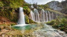 Natureza Paisagens Plitvice Lakes National Park Água Cachoeiras