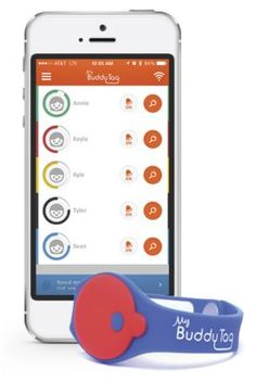 Buddy Tag Child Locater Wristband $39.95 from One Step Ahead compatible with iPhone and smartphone