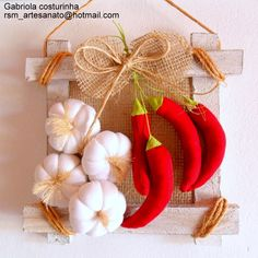 chilli garlic for my kitchen wall... can make a better one of this :  )