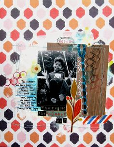 """Where did Summer Go"" scrapbook layout by Mou Saha for Creating Keepsakes magazine, as seen on the Creating Keepsakes editors' blog. #scrapbook #scrapbooking #creatingkeepsakes"