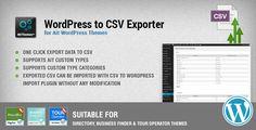 WordPress to CSV Export Plugin