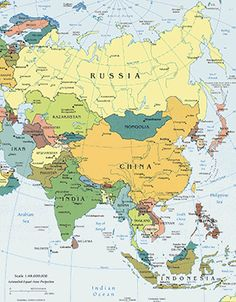 What country has the largest land area in the Eastern Hemisphere?