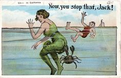 1930 Long Beach funny postcard. Hagins collection.