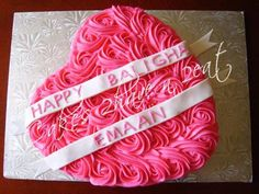 OUR MOST POPULAR DESIGN - CHOCOLATE HEART SHAPED CAKE BEAUTIFULLY DECORATED WITH BUTTERCREAM