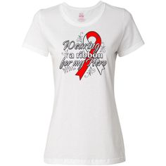 Show your support for someone you know battling Aplastic Anemia with our line of Wearing A Ribbon For My Hero T-Shirt #AplasticAnemiaAwareness