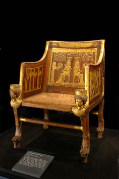 Chair of Princess Sitamun. Found in the tomb of Yuya and Thuya and now in Cairo Museum.
