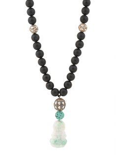 Randi Elyse Onyx and Diamond Bead Buddha Necklace. Available at London Jewelers!