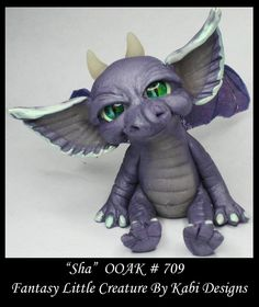 Fantasy Little Dragon DollHouse Art Doll Polymer Clay CDHM OOAK IADR Sha Mini #KabiDesigns