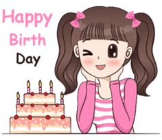 I like to wear polka dot dress.Let enjoy with my lovely stickers. Cute Cartoon Pictures, Cute Love Pictures, Cute Cartoon Girl, Cute Love Cartoons, Happy Birthday Wishes Song, Birthday Wishes For Myself, Birthday Greetings, I Miss You Cute, Happy Brithday