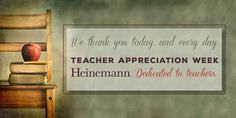 Happy Teacher Appreciation Week from Heinemann! Each day this week on the blog, we'll feature videos of our authors recounting an important lesson or memory from their favorite teacher. Today Tom Newark and Linda Rief.