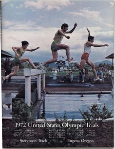 Color image of the front cover of a program for the 1972 United States Olympic Trials at Stevenson Track in Eugene, Or. ©University of Oregon Libraries - Special Collections and University Archives