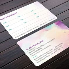 Business card for psychologist who loves art by Felix SH