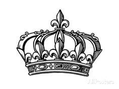 Fleur-de-lis Crown Prints by Pop Ink - CSA Images at AllPosters.