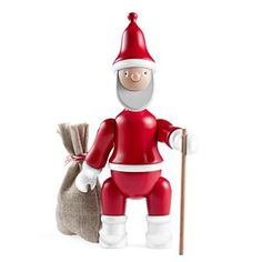 The Kay Bojesen Santa Claus was designed back in the 1940s by the Danish designer Kay Bojesen. The original wooden figure was relaunched in 2013 with sack and a cane. Kay Bojesens characters have become classics all over the world and the Santa Claus is inspired by the colorful soldier which was designed in 1942. An interesting detail is also that the Santa Claus can be regarded as a preliminary study for Kay Bojesen's most famous figure, the monkey, who was born in 1951. The monkey has the…