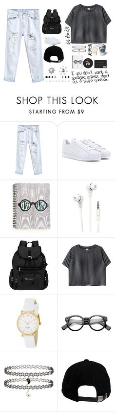 """Whatever"" by xo-sass-xo ❤ liked on Polyvore featuring adidas Originals, Merkury, Sherpani, Kate Spade, Topshop, Brixton, whatever and hat"