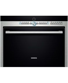 iQ 500 compact microwave combination oven is a great partner for the kitchen. The built-in compact microwave defrosts, heats and cooks helping you prepare food in the kitchen. Siemens Oven, Compact Microwave, Microwave Oven, Microwave Combination Oven, Stainless Steel Oven, Ovens, Food Preparation, Kitchen Appliances