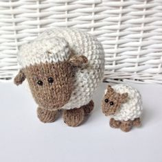 MOSS THE SHEEP TOY KNITTING PATTERNS These sheep are knitted using moss stitch, and they make super toys, or pop them on your bookshelf to bring some woolly cheer to your home. This knitting pattern includes instructions to knit the large and small Moss the Sheep. PLEASE NOTE: This