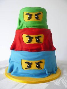Ninjago birthday cake!! Made by the amazing Sugar Mama - https://www.facebook.com/sugarmamabaking