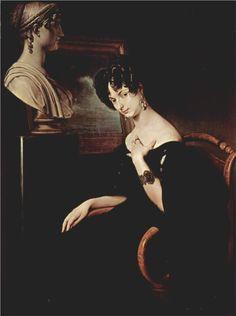 Portrait of Cristina di Belgiojoso Trivulzio, 1832  Francesco Hayez