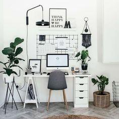10 Escritórios femininos para quem trabalha em casa ~ Decoração e Ideias