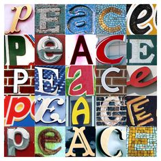 Choose your word, find your letters, create a collage that expresses you and makes you happy!