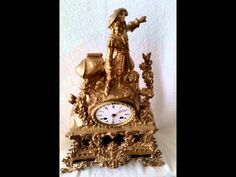 99p on eBay starts this Large Antique French 19th Ormolu Mantel Clock, 17.7'' Inches http://www.ebay.co.uk/itm/390941657948?ssPageName=STRK:MESELX:IT&_trksid=p3984.m1558.l2649