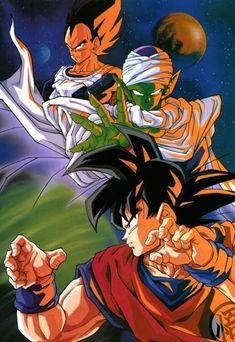 Dragon Ball Z Dragon Ball anime Akira Toriyama Son Goku Piccolo Vegeta Freeza Saga Dragon Ball Gt, Manga Anime, Anime Art, Sailor Moon, Manga Dragon, Pokemon, Arte Dc Comics, Fan Art, Death Note