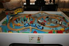 Thomas the Train set and table - $60