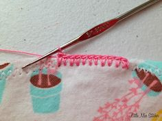 Little Miss Stitcher: How to: MAKE HOLES FOR EDGING WITH CROCHET!! Burp Cloths with Crocheted Edging