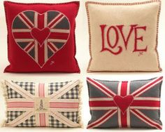 Cusions: The Union Jack ~ A British Classic Union Jack Decor, British Decor, Decoupage, Union Flags, British Things, Uk Flag, Cute Pillows, Save The Queen, Scrapbook