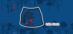 """skirt: """"Lobo feroz"""" / Set """"Menos lobos caperucita"""". #CUROI15"""