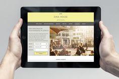 EMA House Brand Identity Website iPad