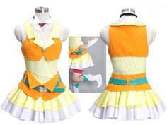 Vocaloid Kagamine Rin Cosplay Costume Clothes MHCS7744