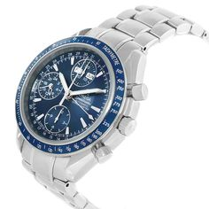 17668 Omega Speedmaster Day Date Blue Dial Chronograph Watch 3222.80.00 SwissWatchExpo